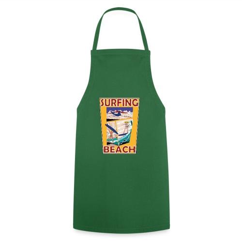 Surfing beach comic Urlaub t-shirt - Kochschürze