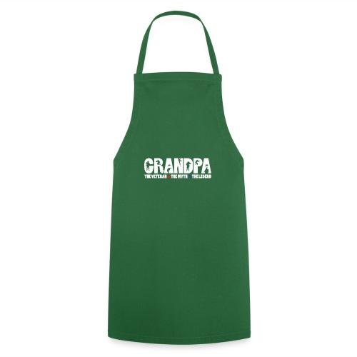 Hombres Abuelo El Veterano El Mito La Leyenda - Delantal de cocina