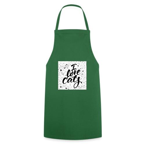 amo gatos - Delantal de cocina