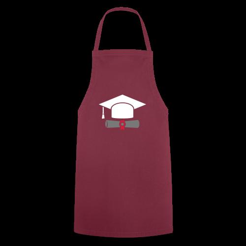 Doktorhut mit Zeugnis - Geschenk zum Abschluss - Kochschürze