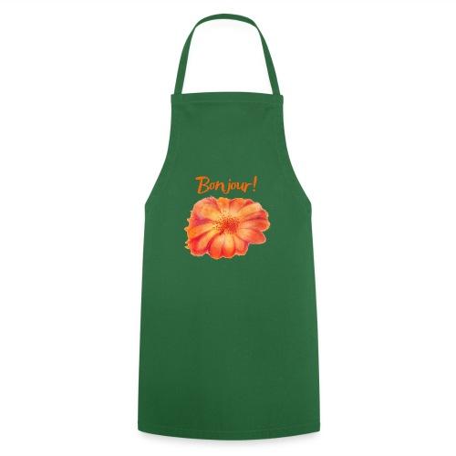 Bonjour ma Fleur Orange Qinspi - Tablier de cuisine
