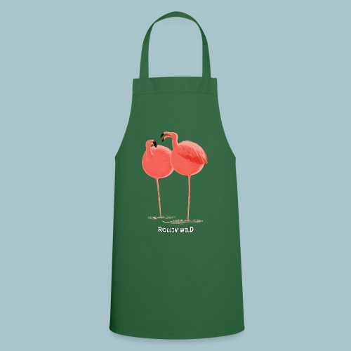 Rollin' Wild - Flamingos - Cooking Apron
