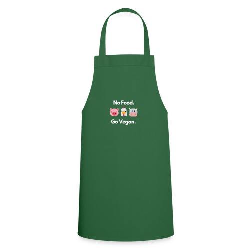 No Food - Go Vegan - Cooking Apron