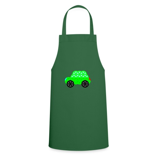 The Car Of Life - 01, Sacred Shapes, L/Green. - Cooking Apron
