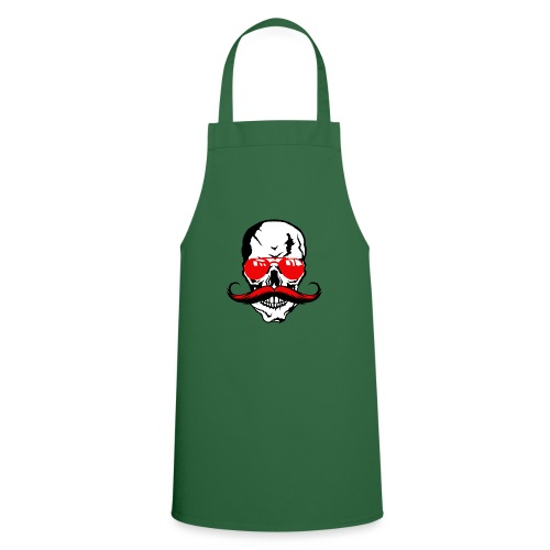 tete de mort crane moustache skull moustachu fanta - Tablier de cuisine