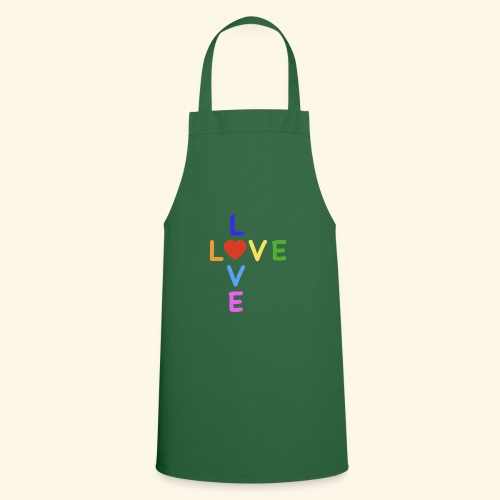 Rainbow Love. Regenbogen Liebe - Kochschürze