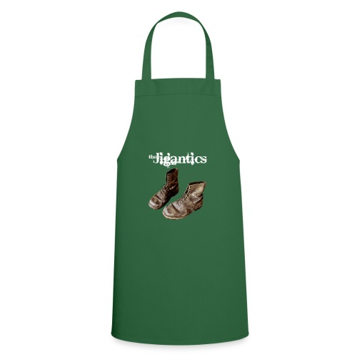 The Jigantics boot logo - white - Cooking Apron