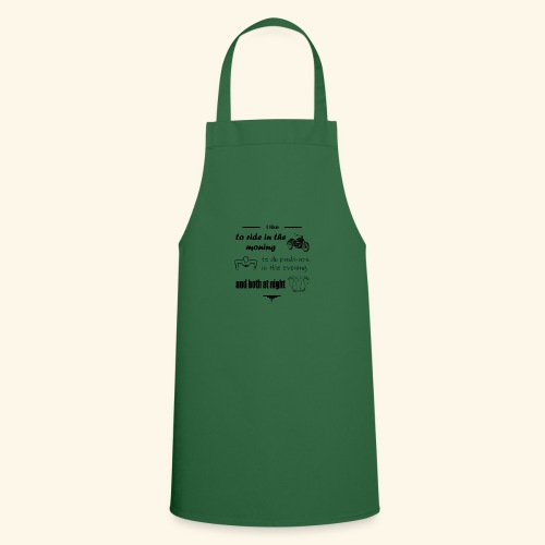 like to ride moto,do sport and make love - Cooking Apron