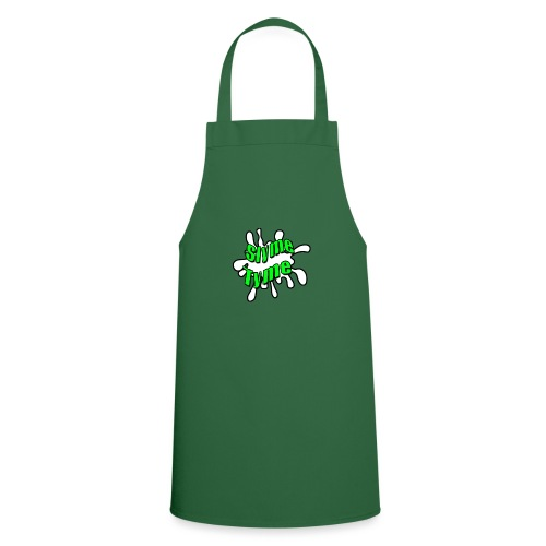 Slyme Tyme Logo / Green To White - Cooking Apron
