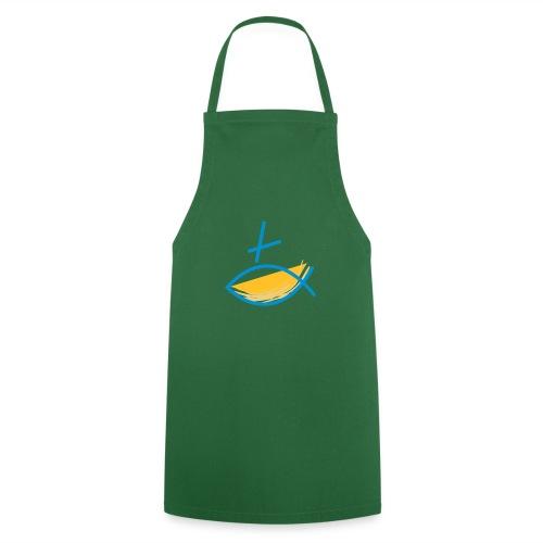 Altkatholischer Logo Fisch Blau/Gelb - Kochschürze