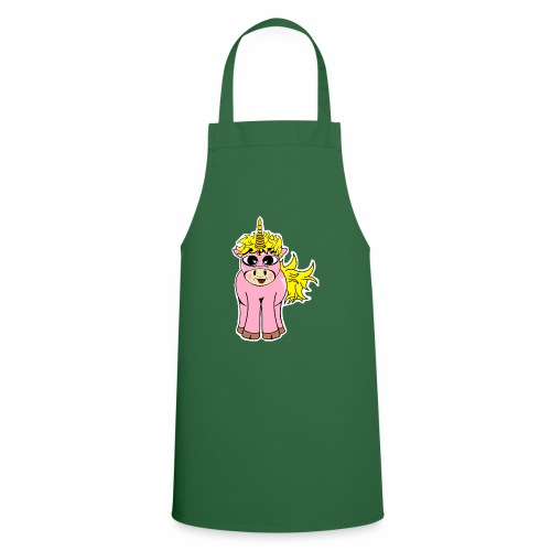 Unicorn female smile - Tablier de cuisine
