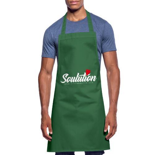 Soulution Logo – weiß - Kochschürze