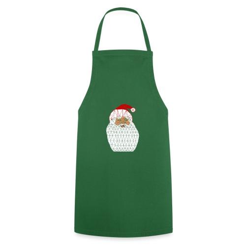 Papa Noël Isométrique fond sombre - Tablier de cuisine