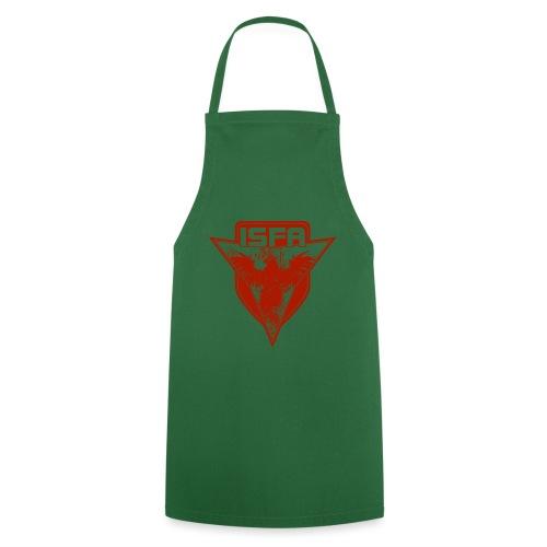 isfa logo 1c rot - Kochschürze
