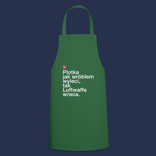 plotka - napis jasny - Fartuch kuchenny