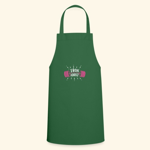 Iron Addict I VSK Funny Gym Shirt - Kochschürze