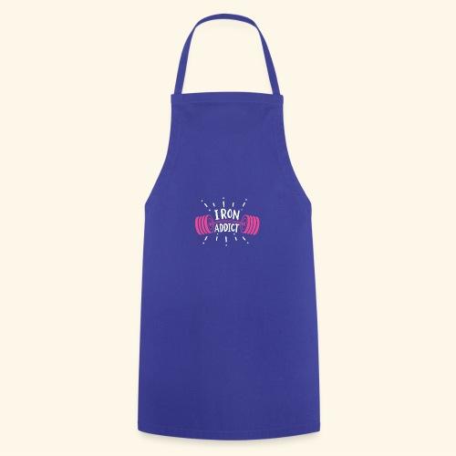 VSK Lustiges GYM Shirt Iron Addict - Kochschürze