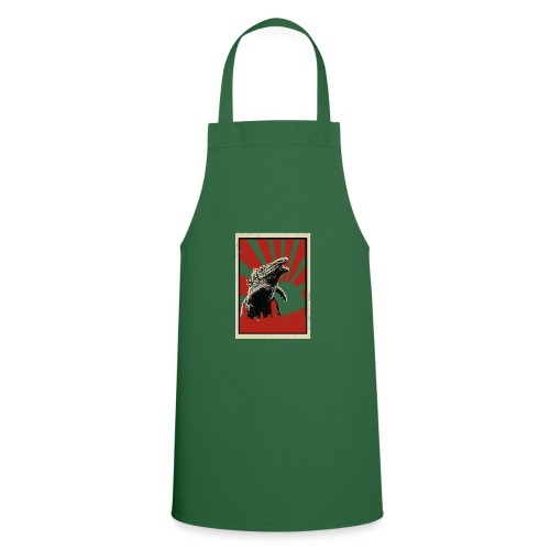 GodZilla red sun rays flare vintage movie poster - Cooking Apron
