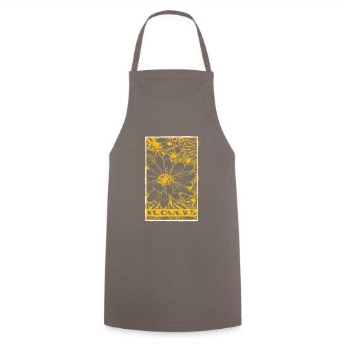 bloemen geel wit - Keukenschort