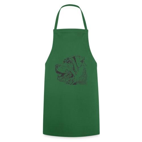 Rottweiler Mund offen schwarz - Kochschürze