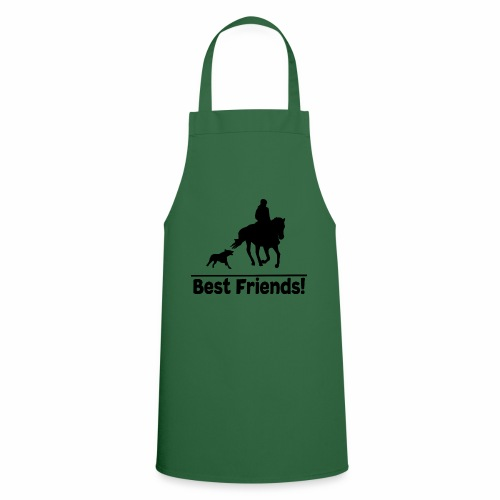 Reiten mit Hund T-Shirt Beste Freunde Pferd-Hund - Kochschürze