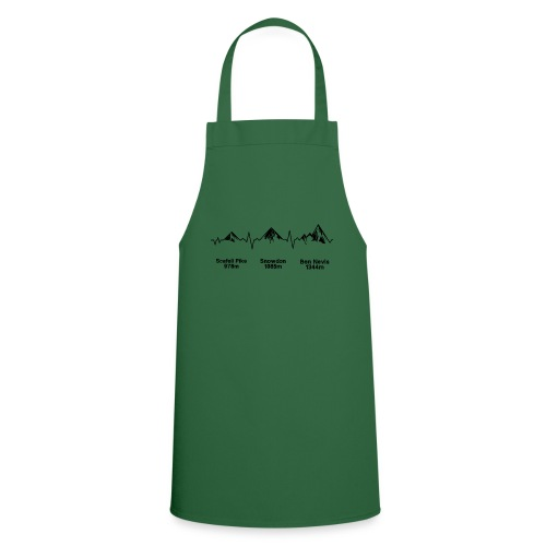 ECG Thee Peaks Light Background - Cooking Apron
