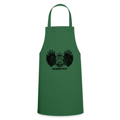IH King of the country (black design) - Keukenschort