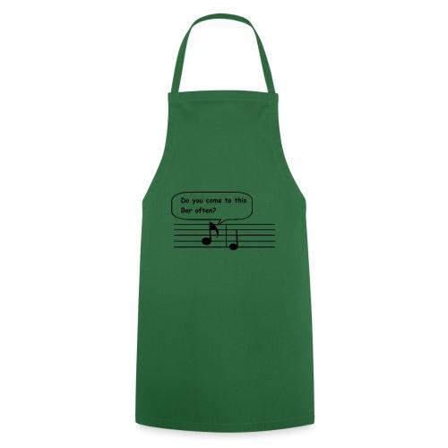 Lustiger Spruch Musiker Note Shirt Geschenk - Kochschürze
