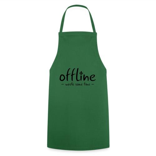 Waste some time offline – Lilie – Farbe wählbar - Kochschürze