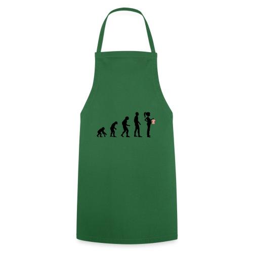 Evolution schwanger maedchen Mädchen Geschenk - Kochschürze