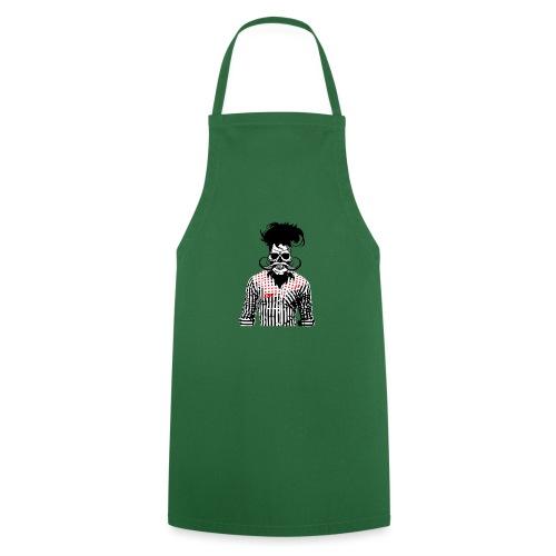 tete de mort hipster chemise skull moustache crane - Tablier de cuisine