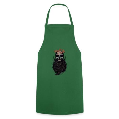 tete de mort hipster skull crane logo barbu barbe - Tablier de cuisine