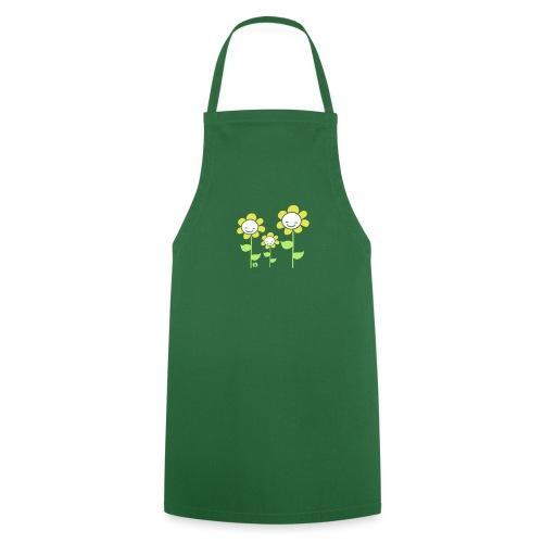 Blumen Trio - Flowers - Kochschürze