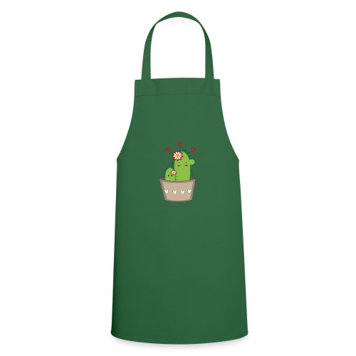 Kaktus Mama mit Kaktus Baby - Kochschürze