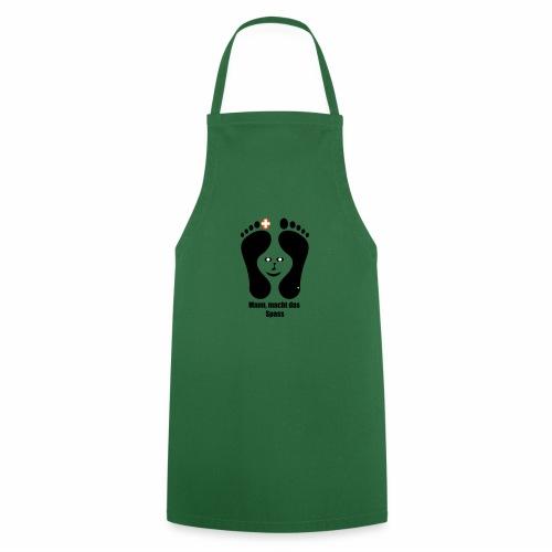 Barfuss-Logo das macht Spass mit Gesicht - Kochschürze