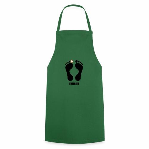 Barfuss-Logo Freiheit - Kochschürze