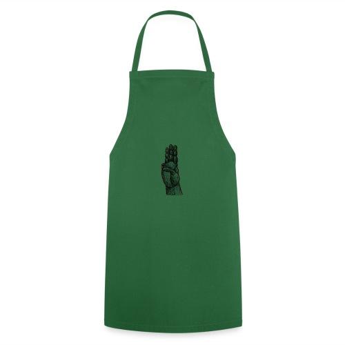 Pfadfindergruß Skribble Schwarz - Kochschürze