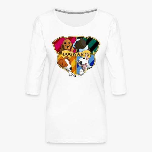Dogwarts Logo - Women's Premium 3/4-Sleeve T-Shirt
