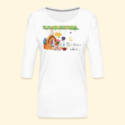 Tout à coup, le temps a considérablement ralenti - T-shirt Premium manches 3/4 Femme