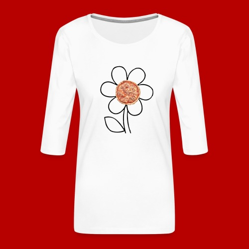 Pizzaflower Edition - Frauen Premium 3/4-Arm Shirt