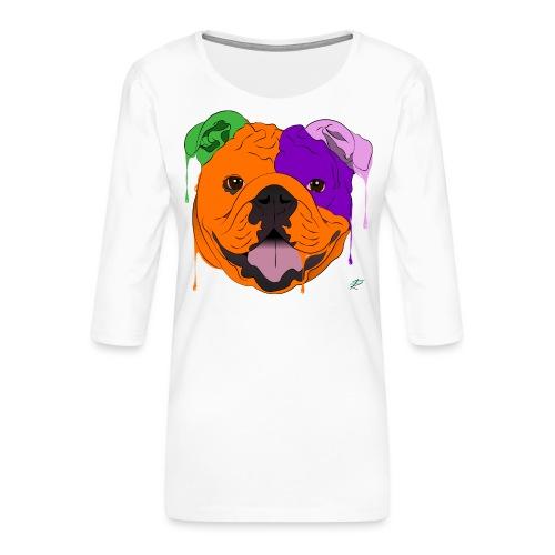 Bulldog - Maglietta da donna premium con manica a 3/4