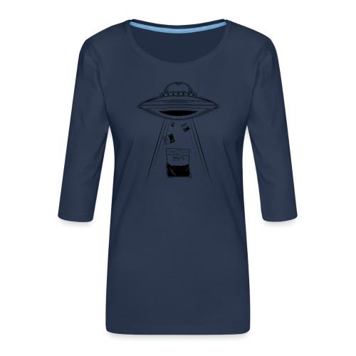 UFO thuts - T-shirt Premium manches 3/4 Femme