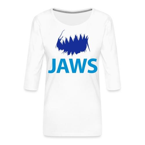Jaws Dangerous T-Shirt - Women's Premium 3/4-Sleeve T-Shirt