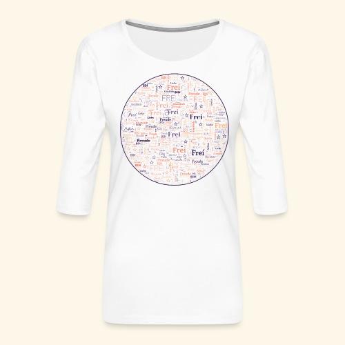 Ich bin - Frauen Premium 3/4-Arm Shirt