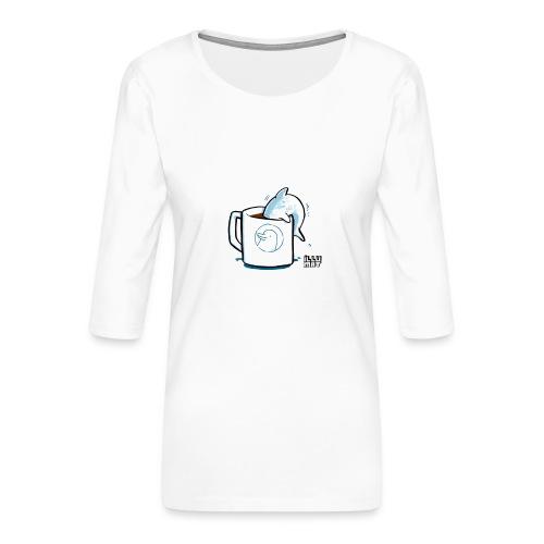 STE 0009 00 Coffee Flipper - Frauen Premium 3/4-Arm Shirt