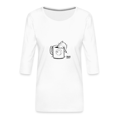 STE 0009 01 Coffee Flipper - Frauen Premium 3/4-Arm Shirt