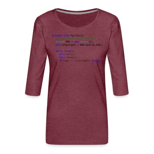 My Life C# - Maglietta da donna premium con manica a 3/4