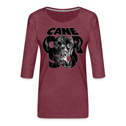 Cane Corso Black - Naisten premium 3/4-hihainen paita