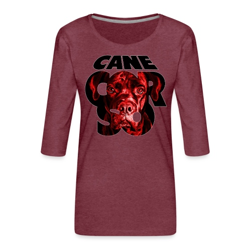 Cane Corso RedBlack - Naisten premium 3/4-hihainen paita