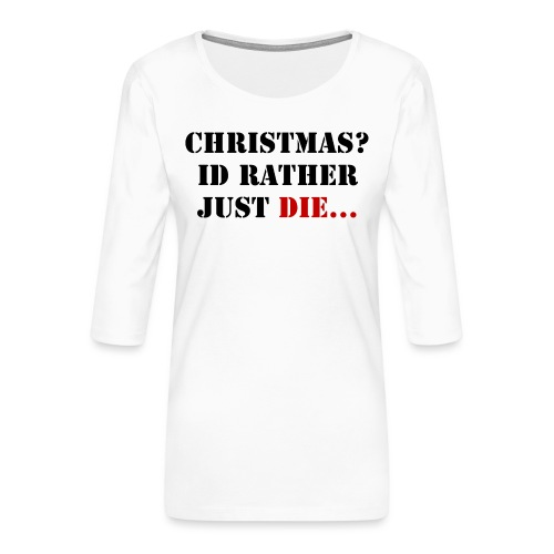 Christmas joy - Women's Premium 3/4-Sleeve T-Shirt